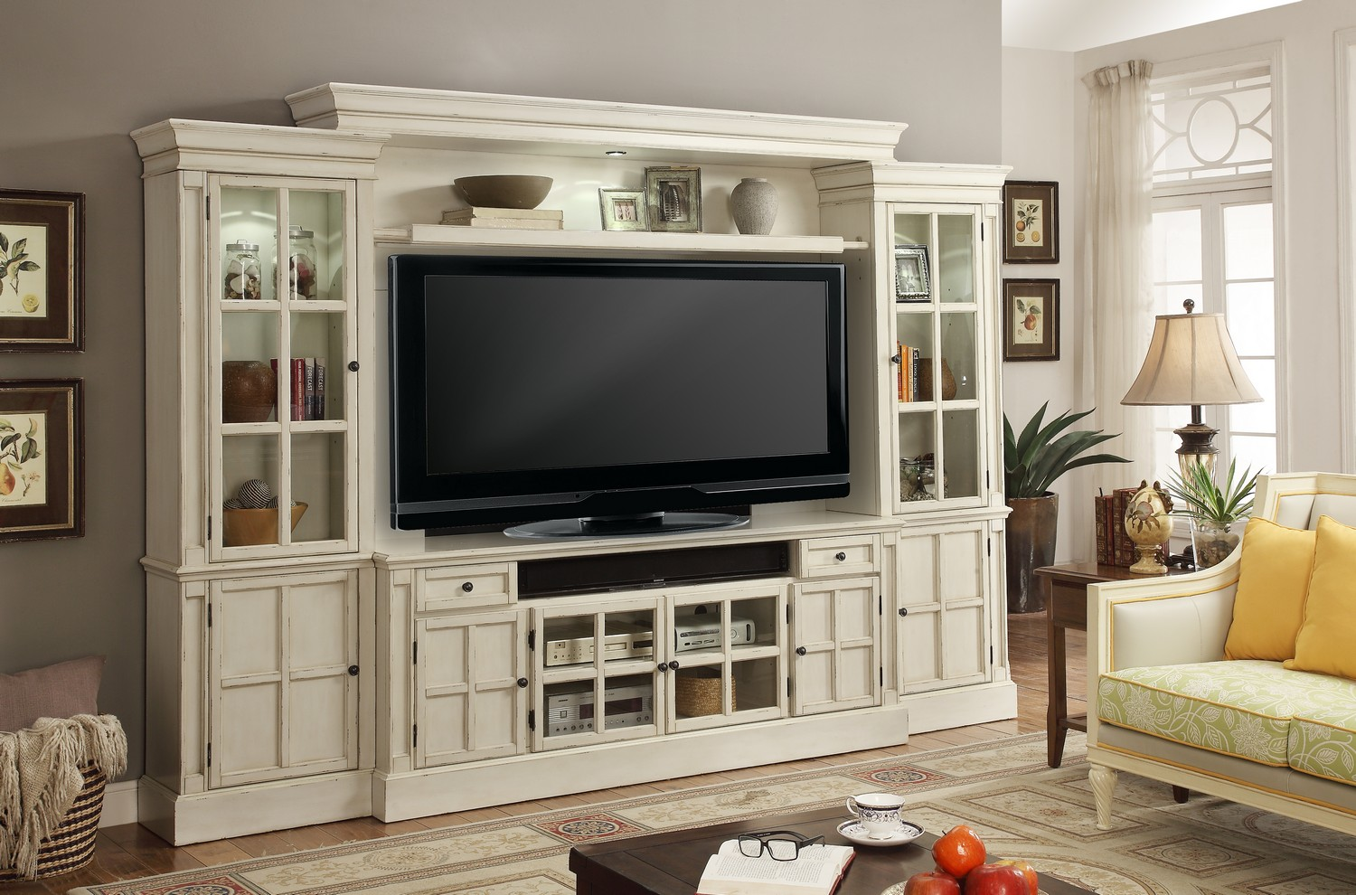 Parker House Charlotte 4pc 72-inch Entertainment Wall