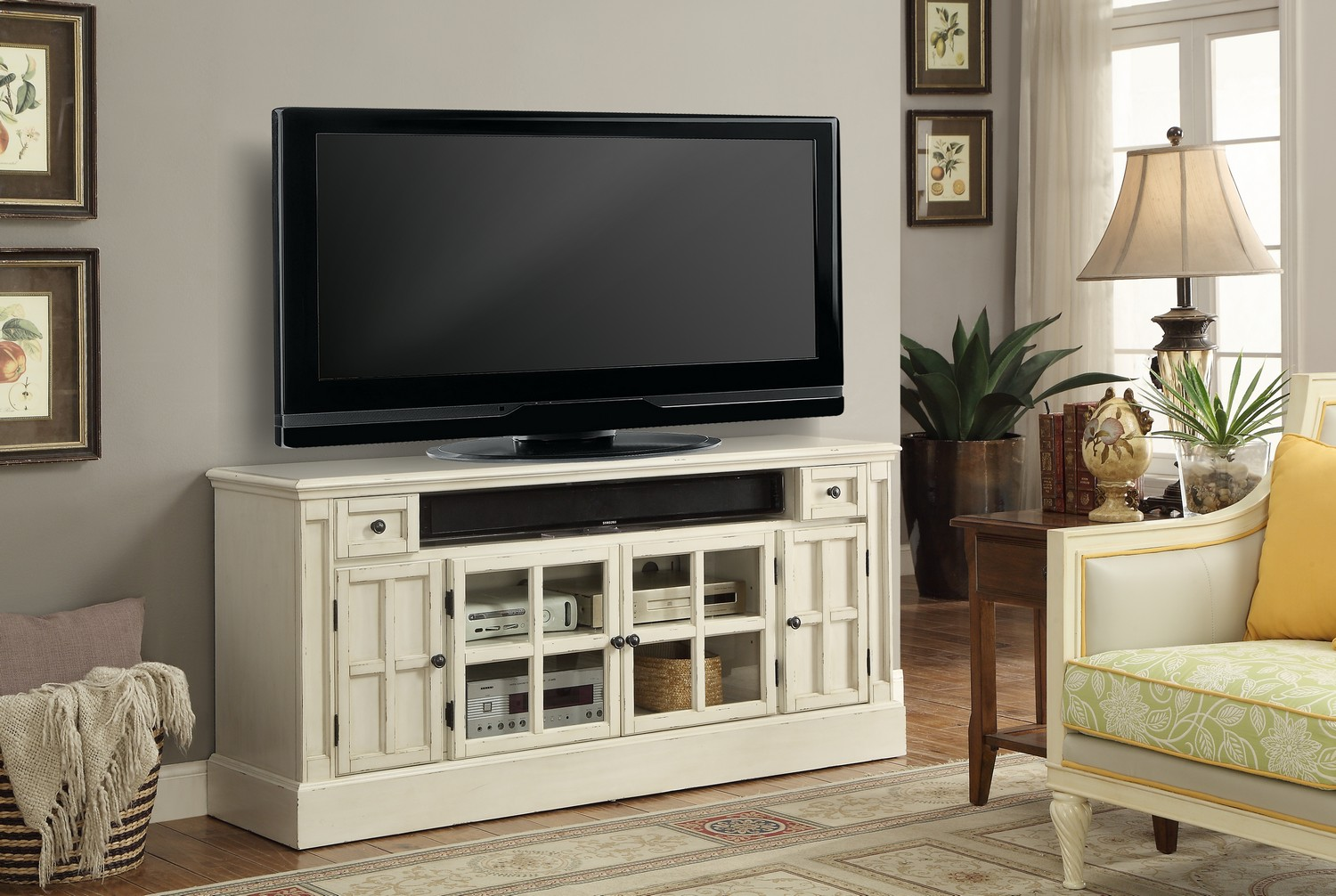 Parker House Charlotte 62-inch TV Console with Power Center