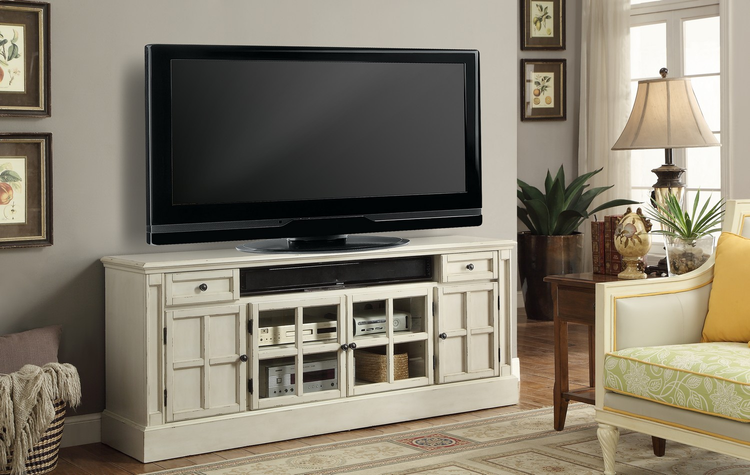 Parker House Charlotte 72-inch TV Console with Power Center