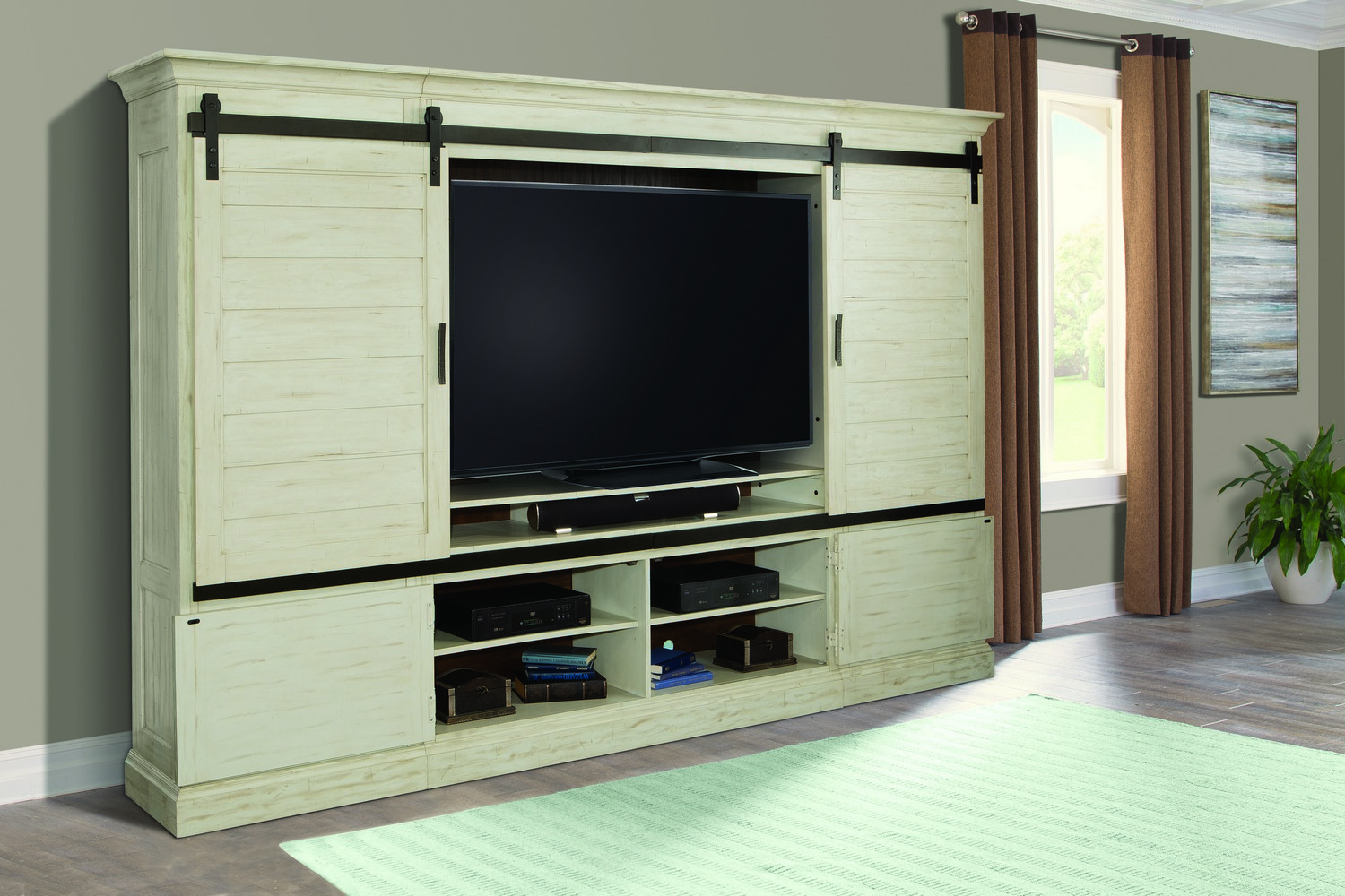 Parker House Chesapeake Sliding Door Entertainment Wall