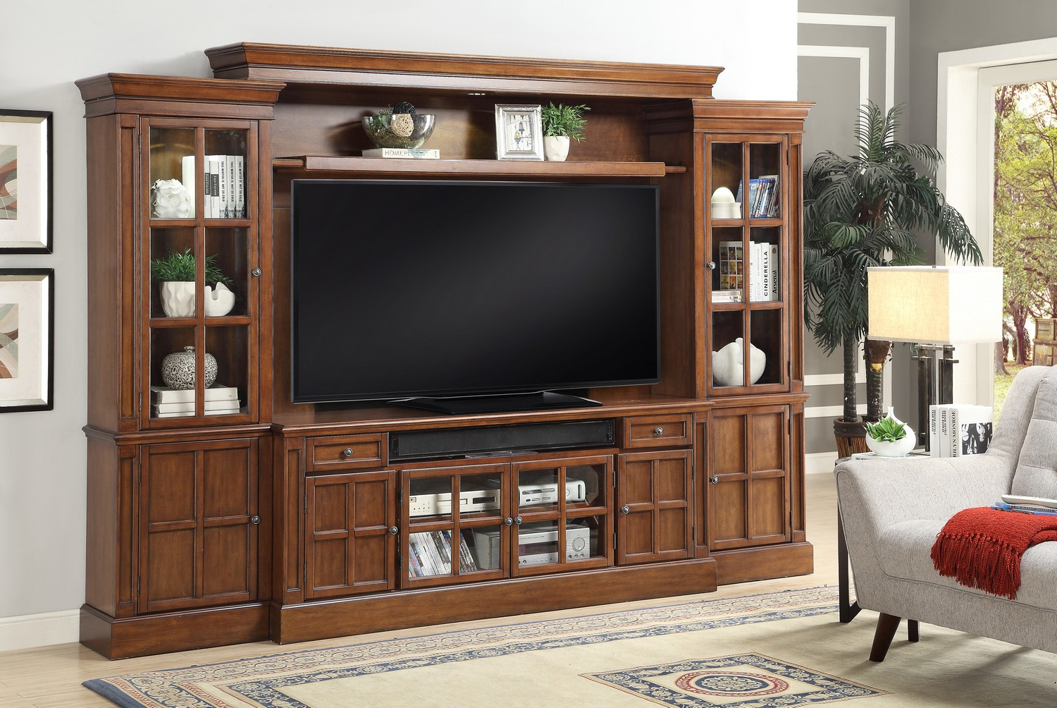 Parker House Churchill 4pc 72-inch Entertainment Wall