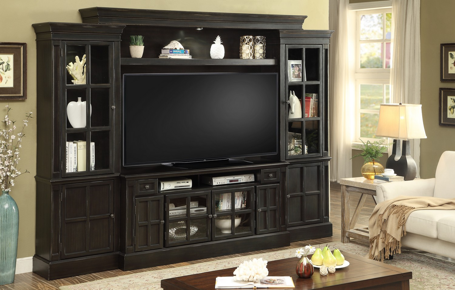 Parker House Concord 4pc 62-inch Entertainment Wall