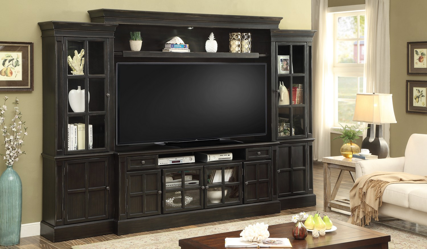 Parker House Concord 4pc 72-inch Entertainment Wall
