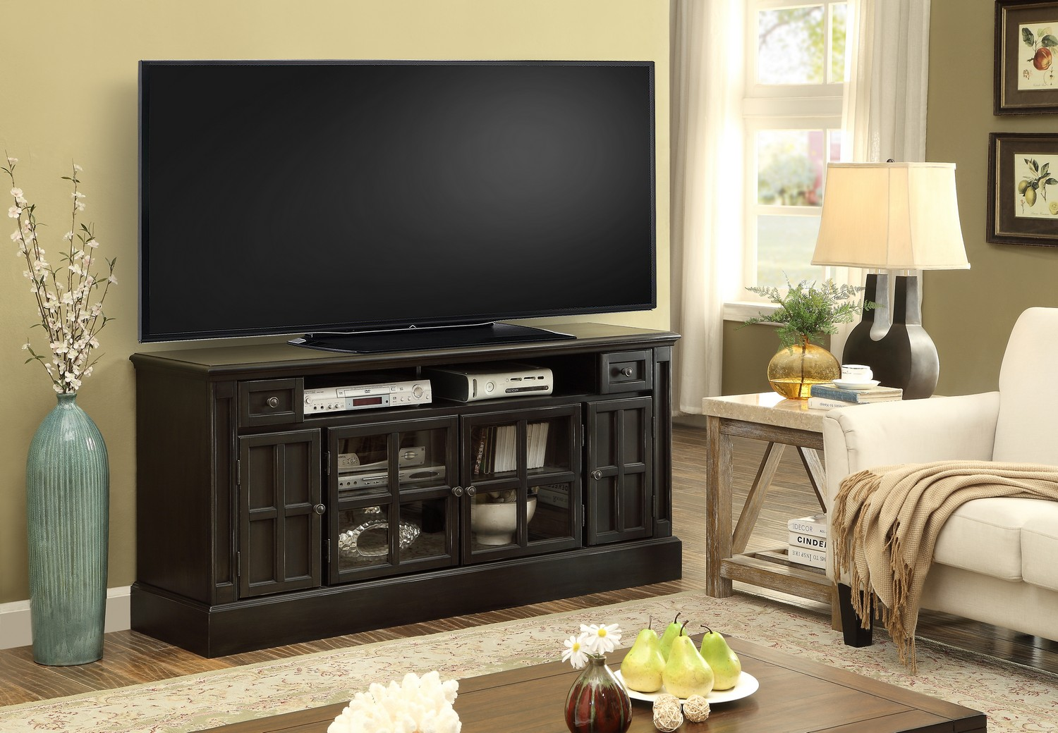 Parker House Concord 62-inch TV Console with Power Center