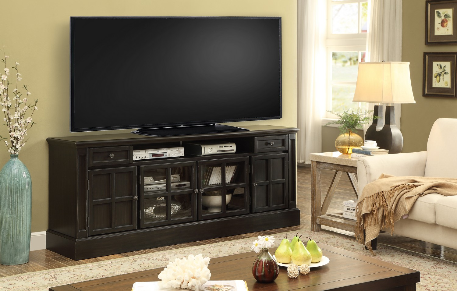 Parker House Concord 72-inch TV Console with Power Center