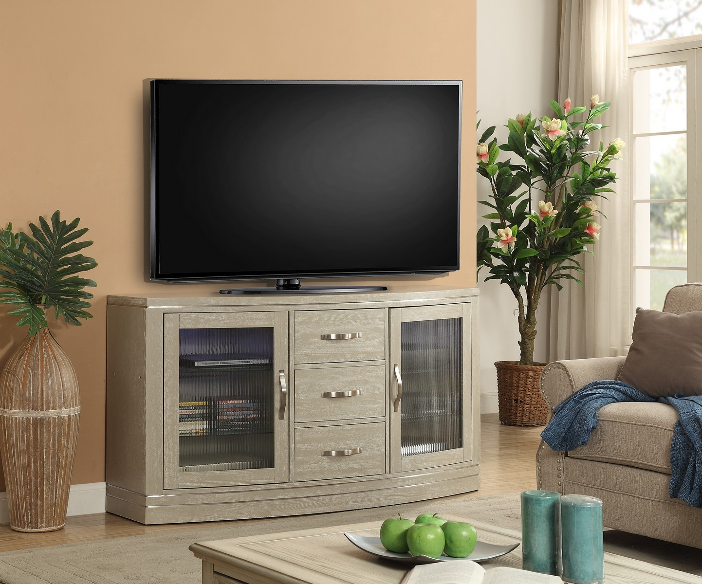 Parker House Cosmopolitan 65-inch TV Console with LED Light