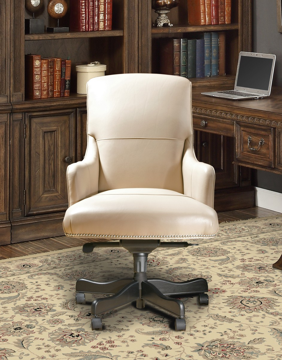 Parker House Prestige DC-106-BI Leather Desk Chair - Biscuit