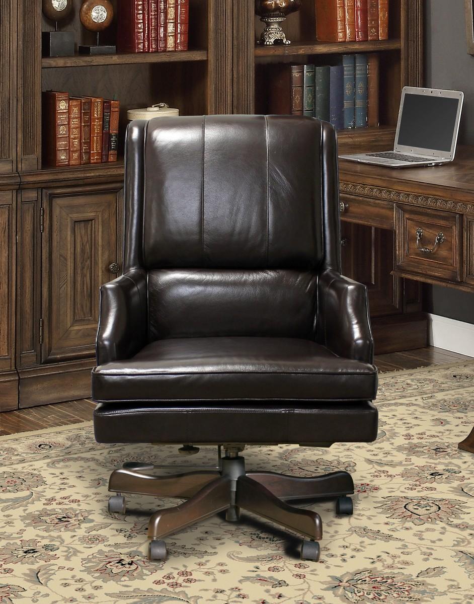 Parker House Prestige DC-107-SB Leather Desk Chair - Sable