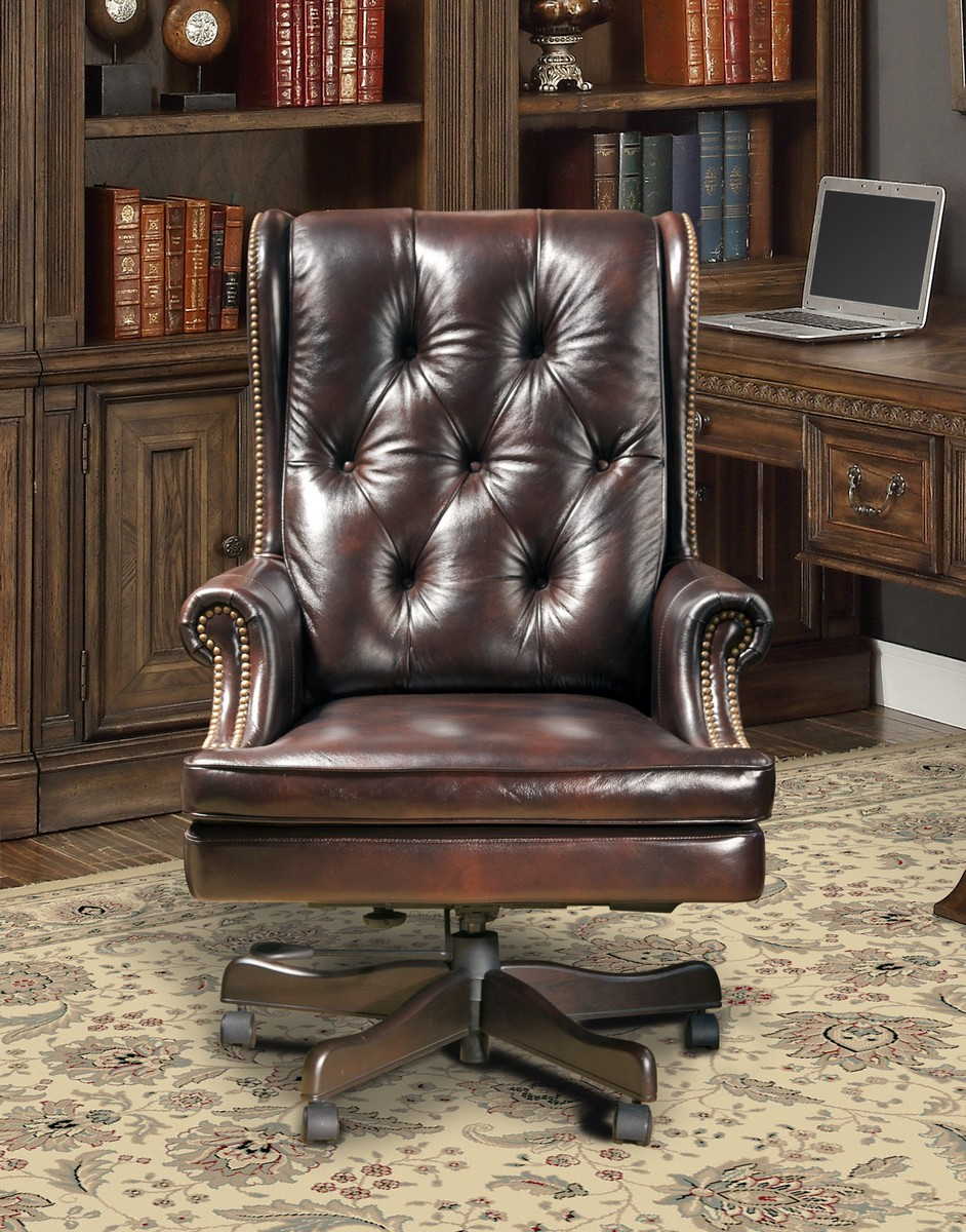 Parker House Prestige DC-112-HA Leather Desk Chair - Havana