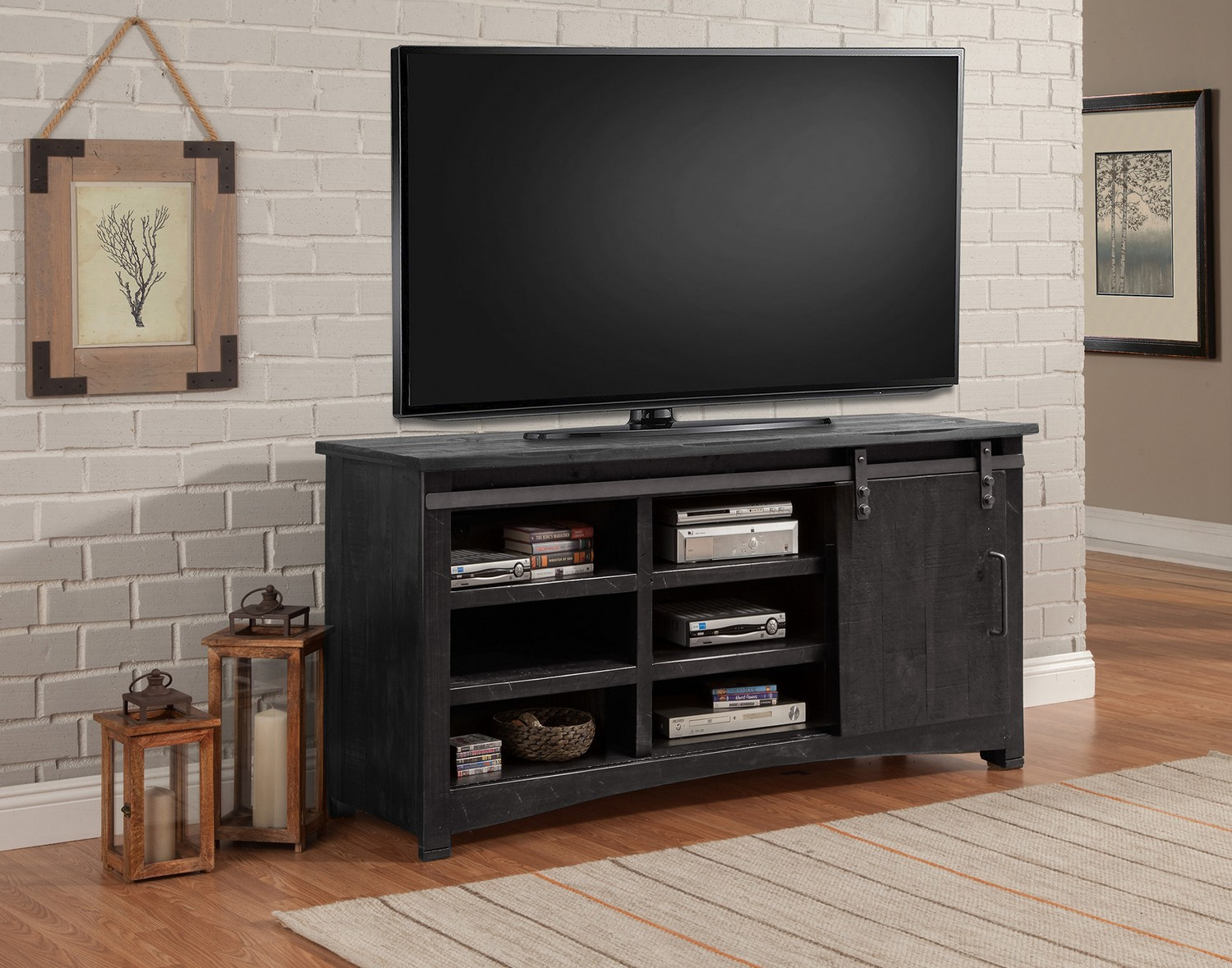 Parker House Durango 63-inch Console with Sliding Door - Rustic Dark Pine