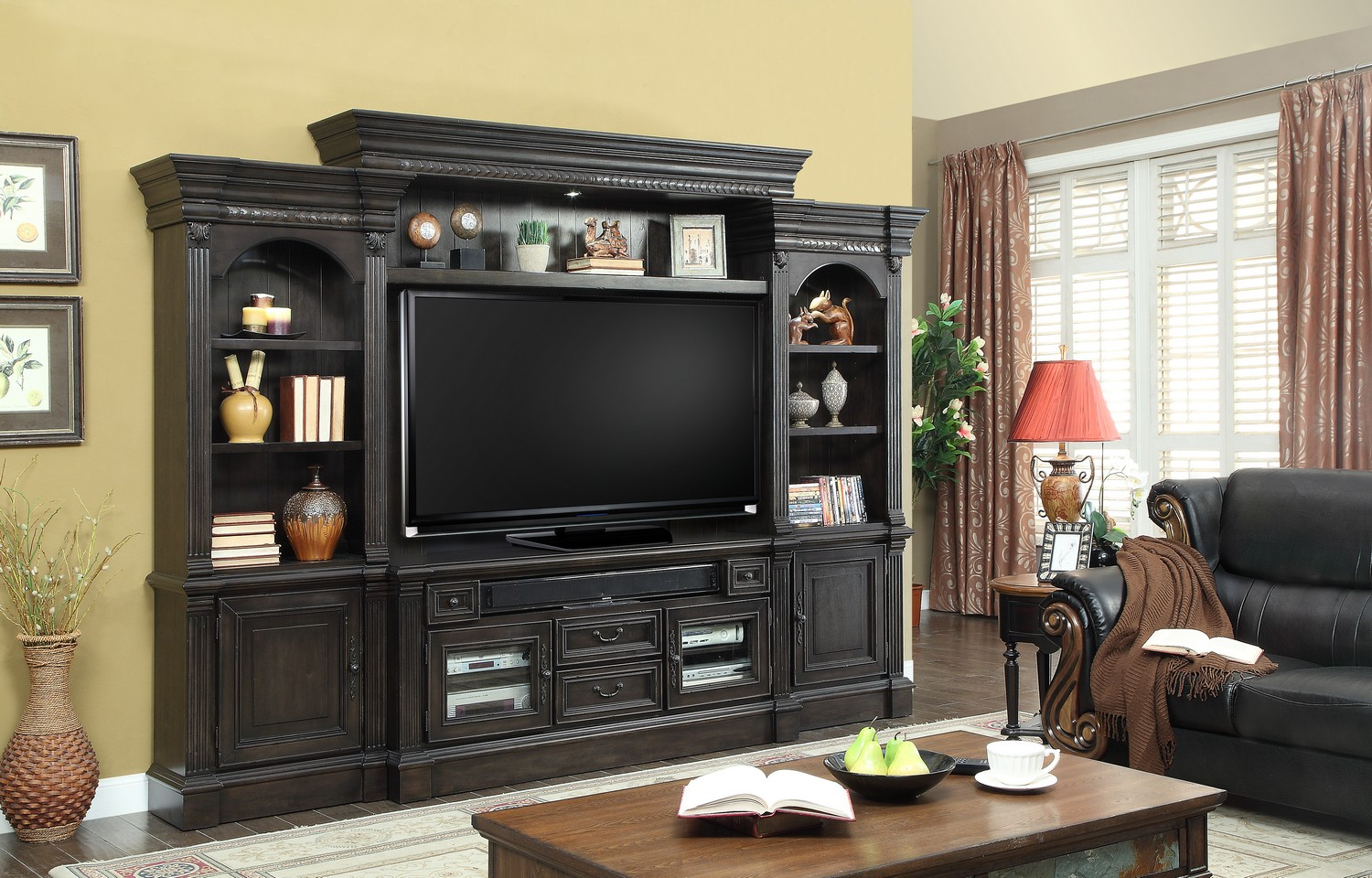 Parker House Fairbank 4pc Entertainment Wall