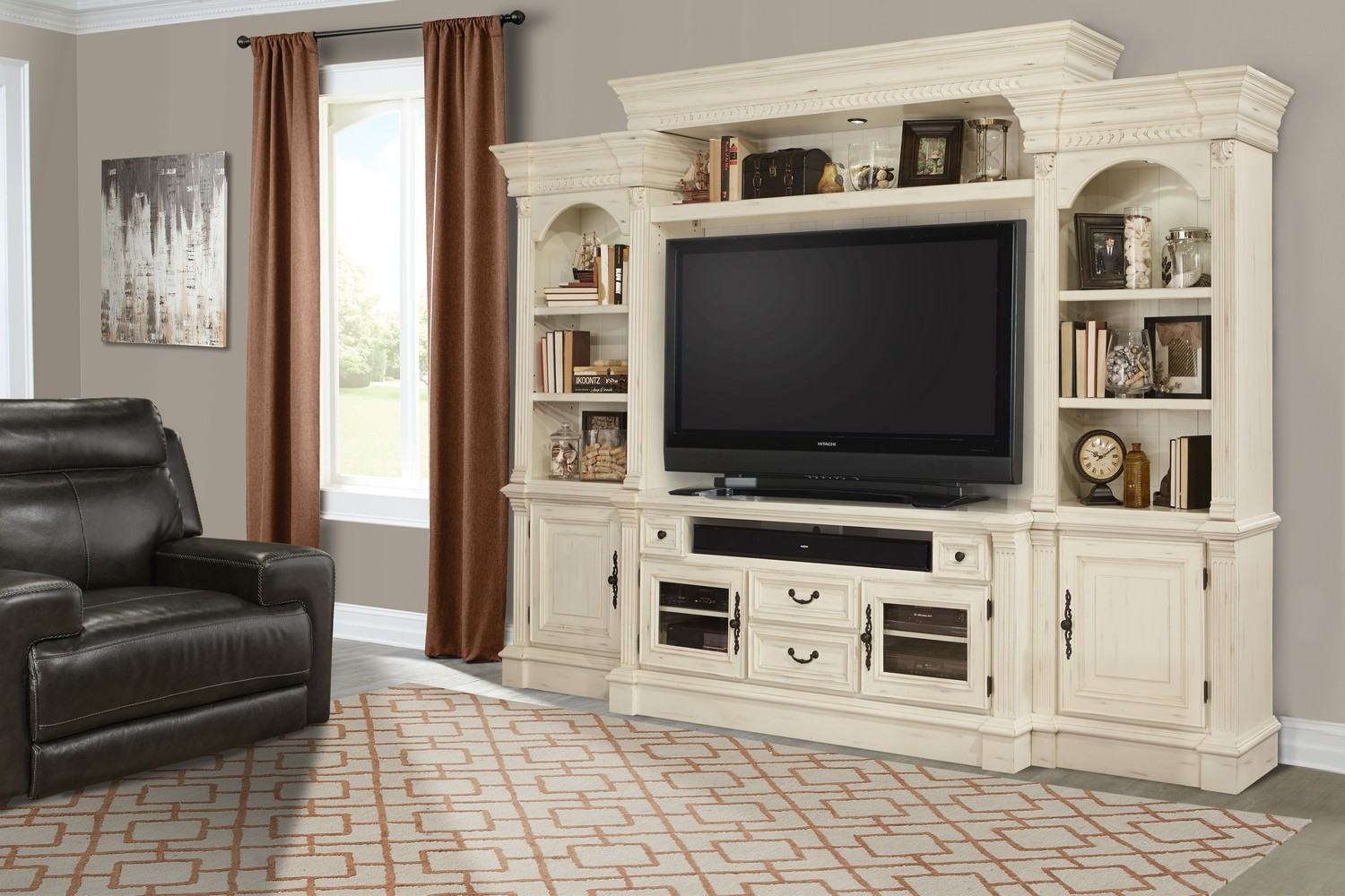 Parker House Fremont 4pc Entertainment Wall