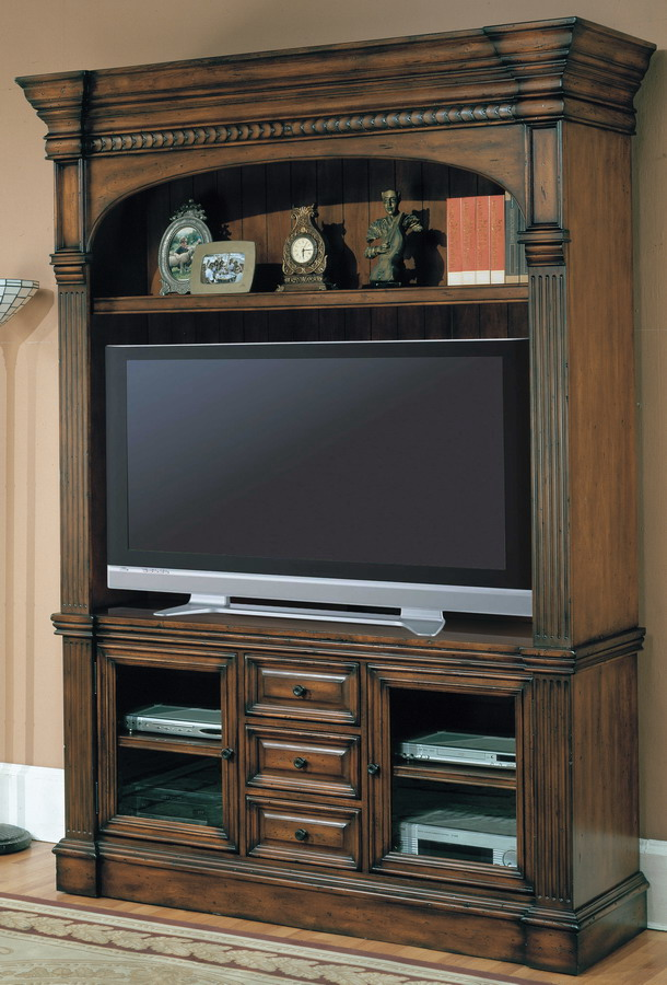Genoa 3pc Entertainment Center with 65in TV Console - Parker House