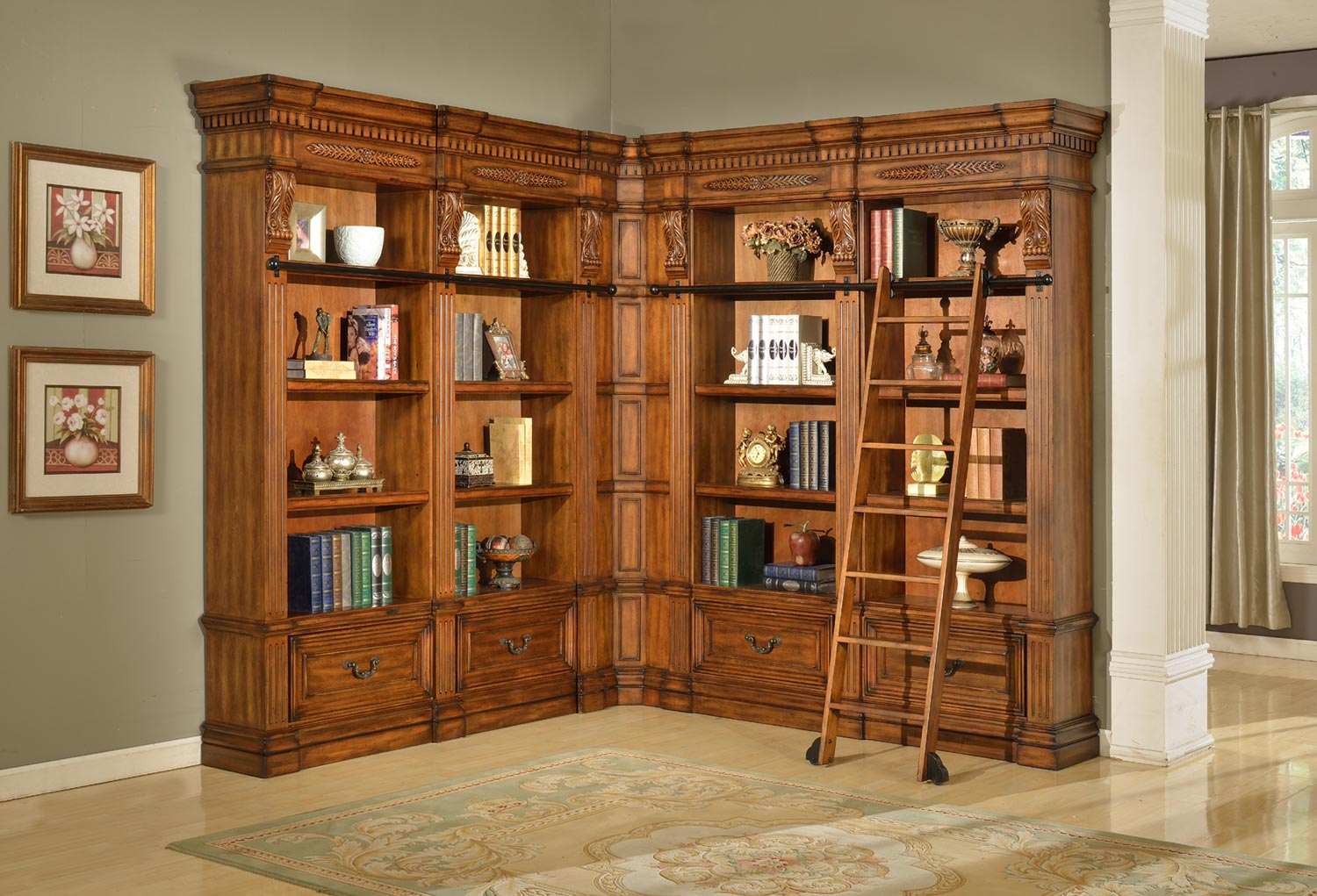 Parker House Grand Manor Granada Museum Bookcase Library Wall 2