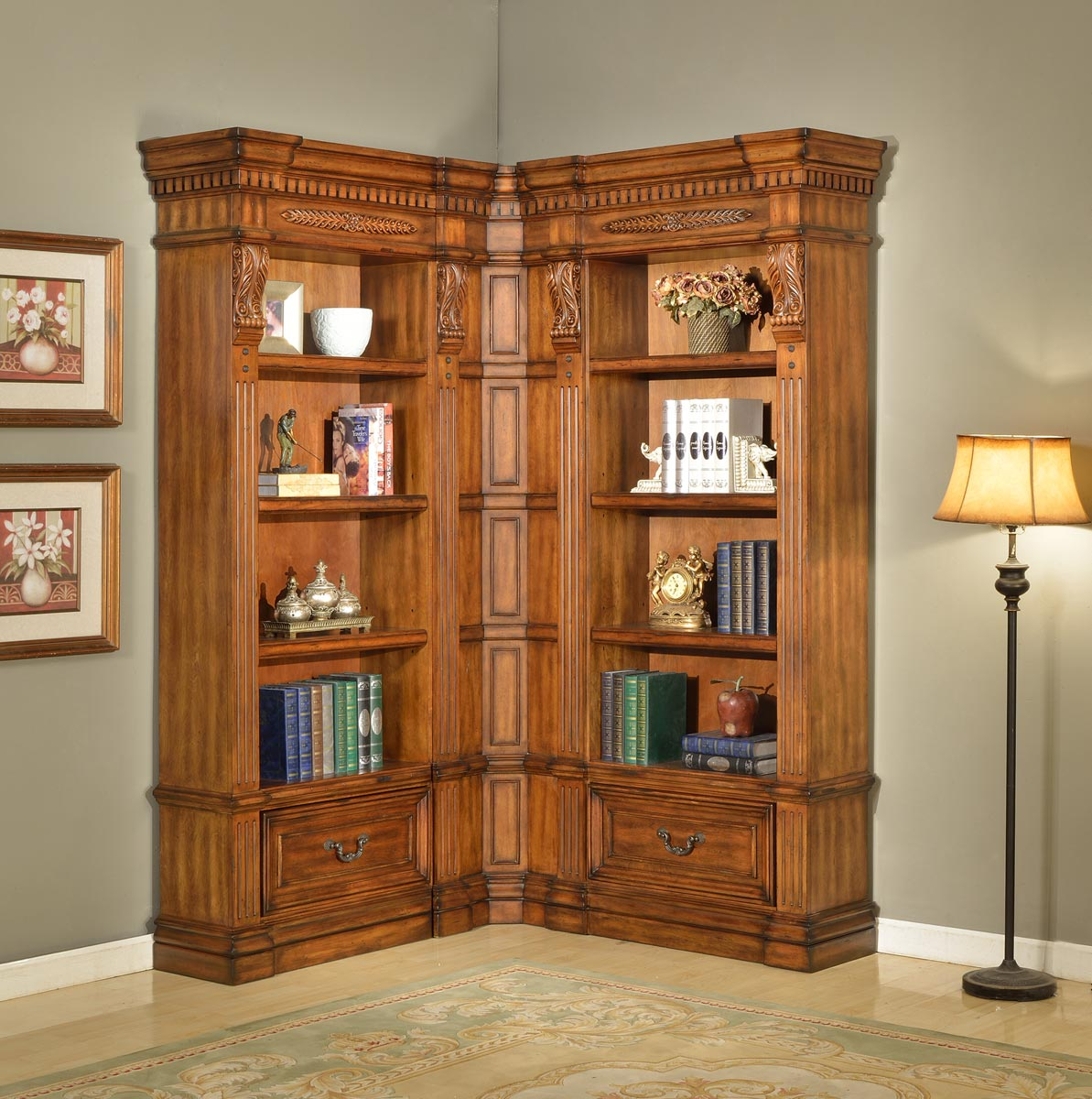 Parker House Grand Manor Granada Museum Bookcase Library Wall 4