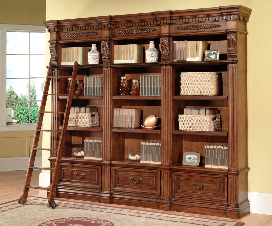 House Bookshelf: Parker House Grand Manor Granada 3 Piece Bookcase GGRA9030