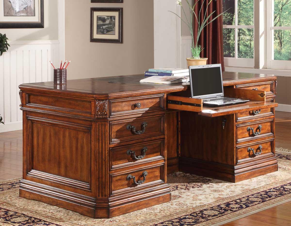 Parker House Grand Manor Granada Double Pedestal Executive Desk Ph Ggra 9080 3 At