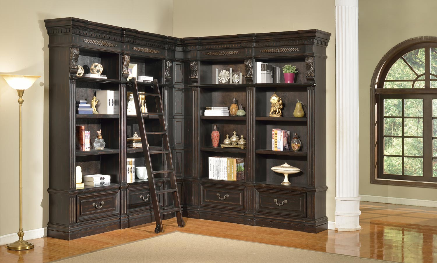 Parker House Grand Manor Palazzo Museum Bookcase Library Wall 2