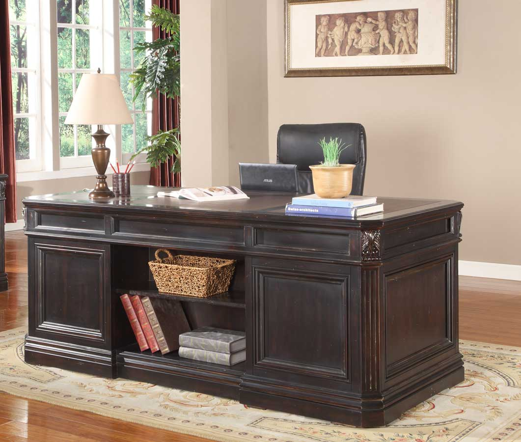 parker house grand manor palazzo double pedestal executive desk