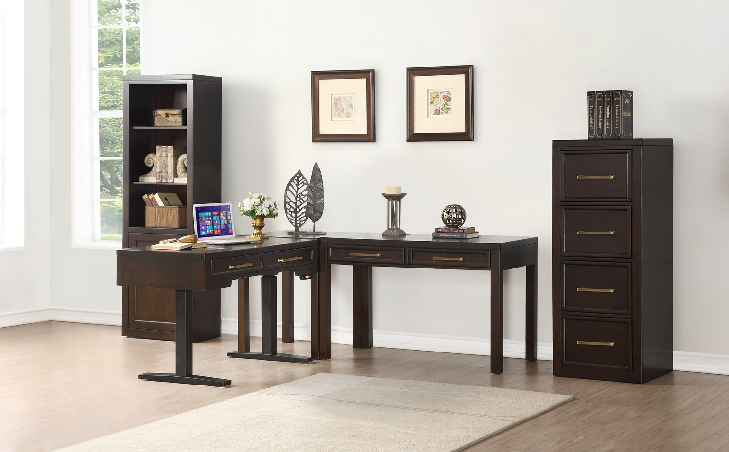 Parker House Greenwich Home Office Set 1 - Dark Walnut