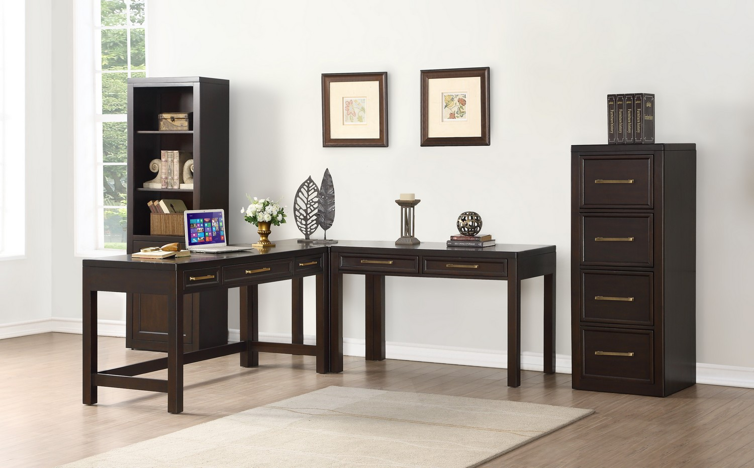 Parker House Greenwich Home Office Set 4 - Dark Walnut