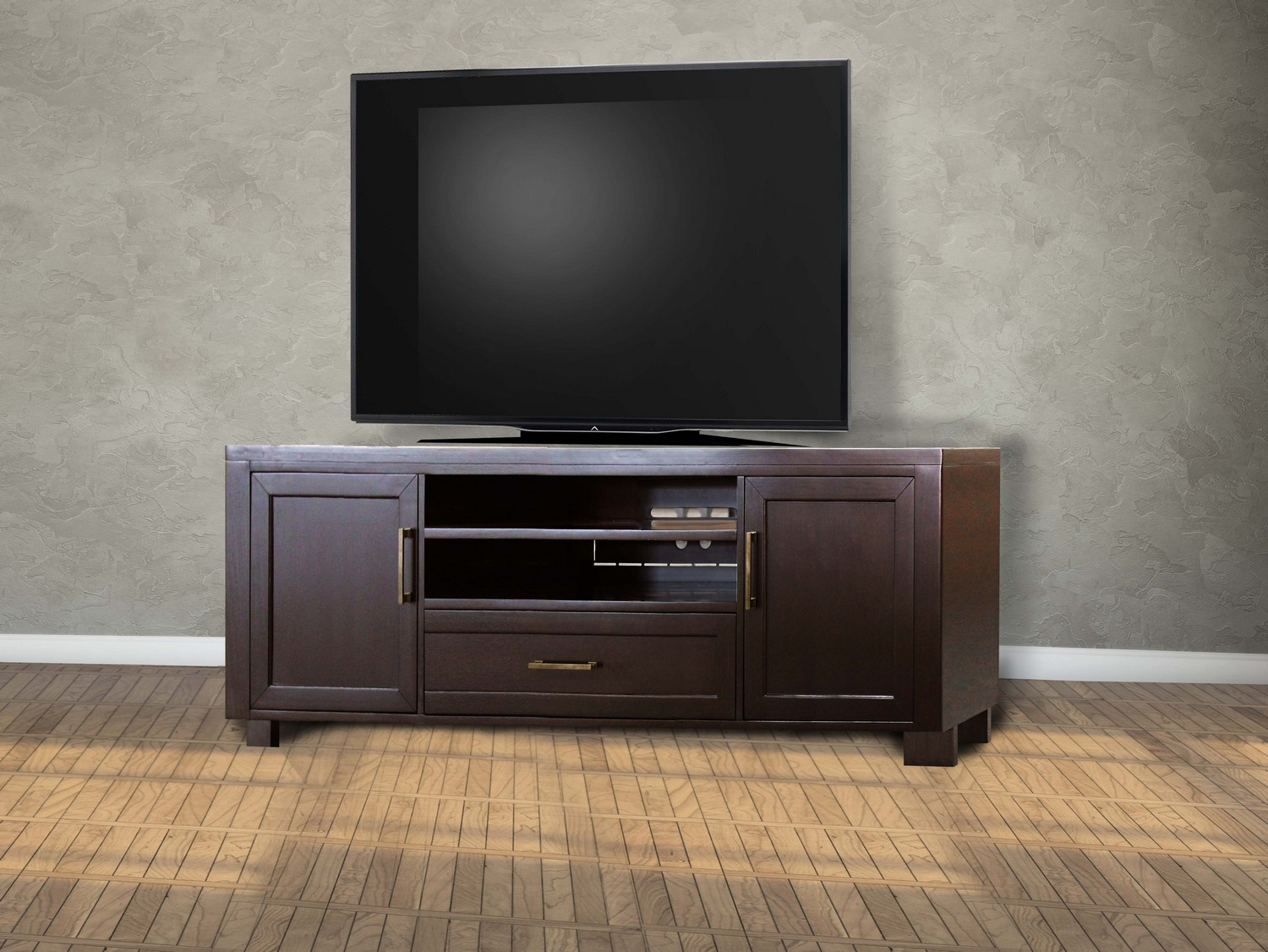 Parker House Greenwich 76-inch TV Console - Dark Walnut