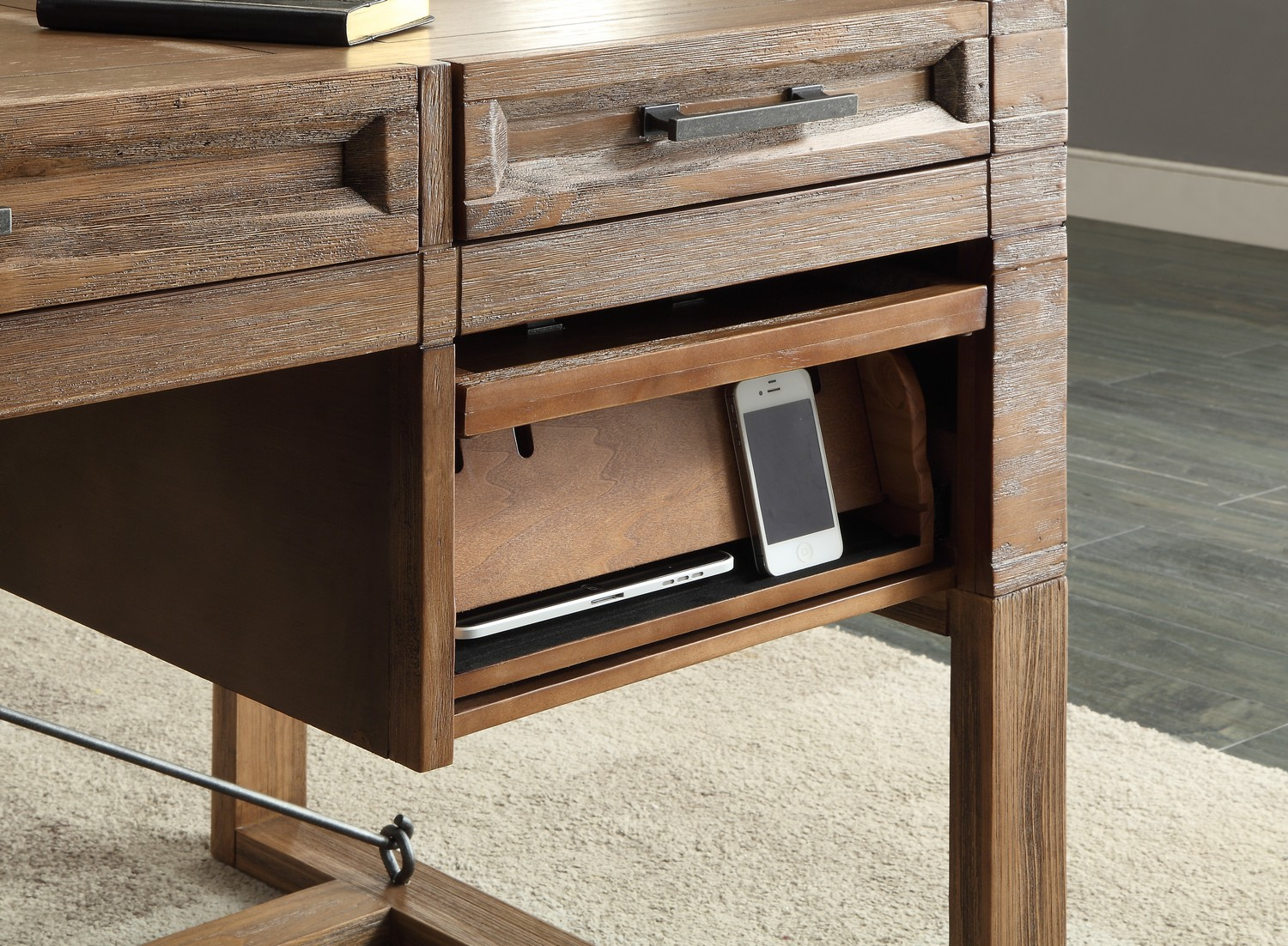 60 inch writing desk For even more home products visit our sister company, home styles with the latest in home furniture including kitchen, sunroom and outdoor collections, and convenient ready-to-assemble packaging and shipping, home styles has something for you.