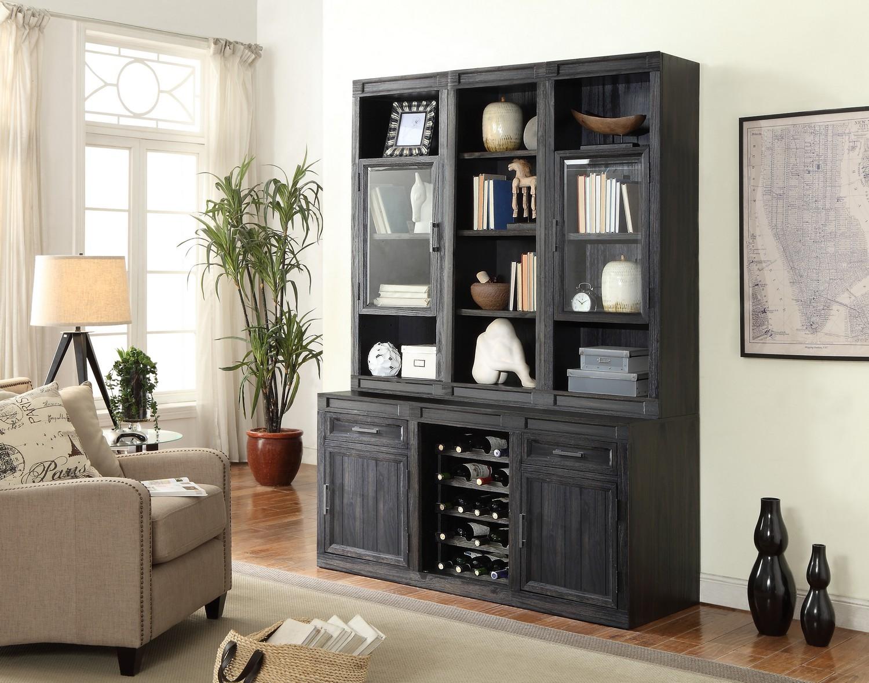 Parker House Hudson Desk Set With Bookcase Hutch And Storage