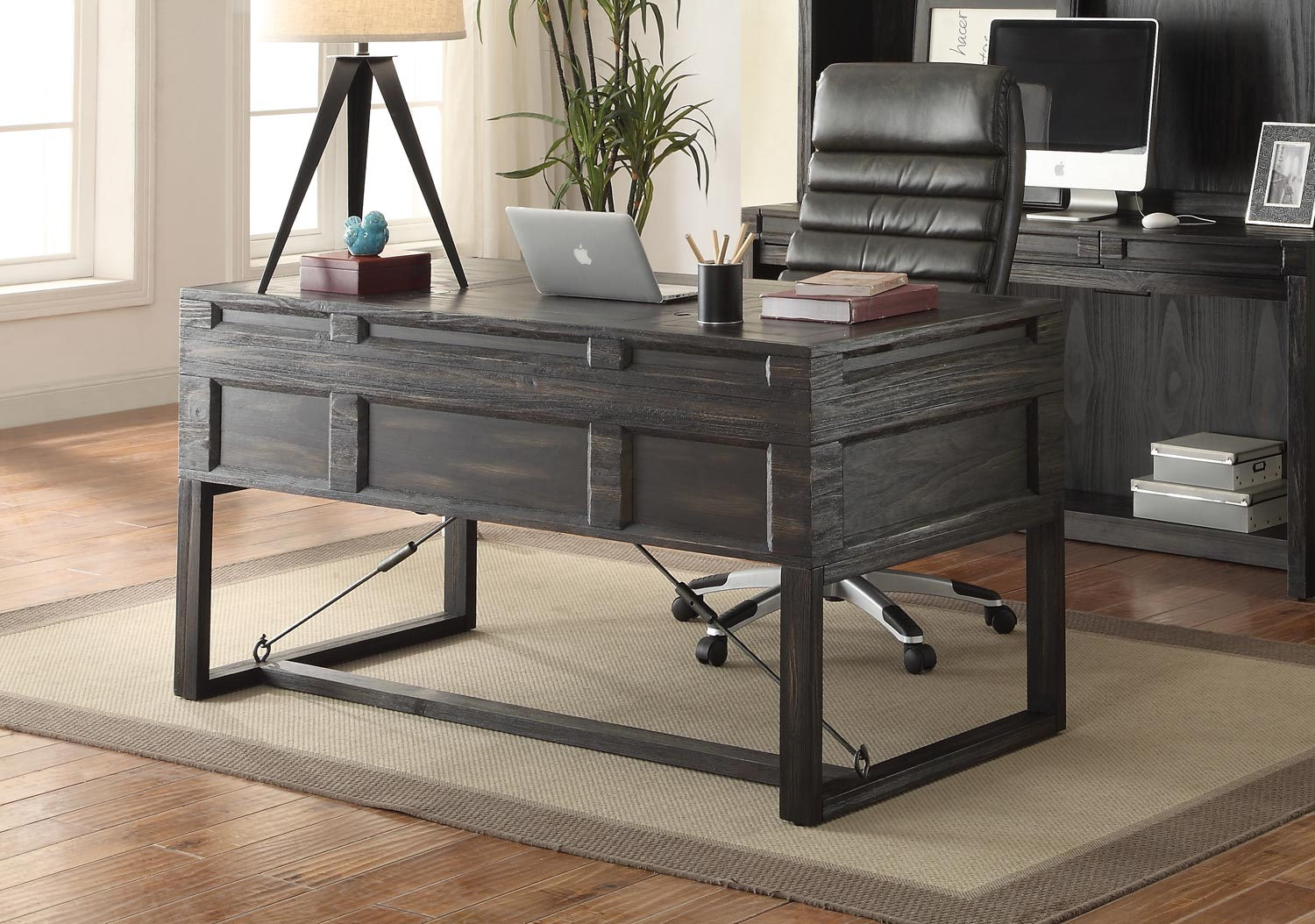 Parker House Hudson 60 Inch Writing Desk With Power Center