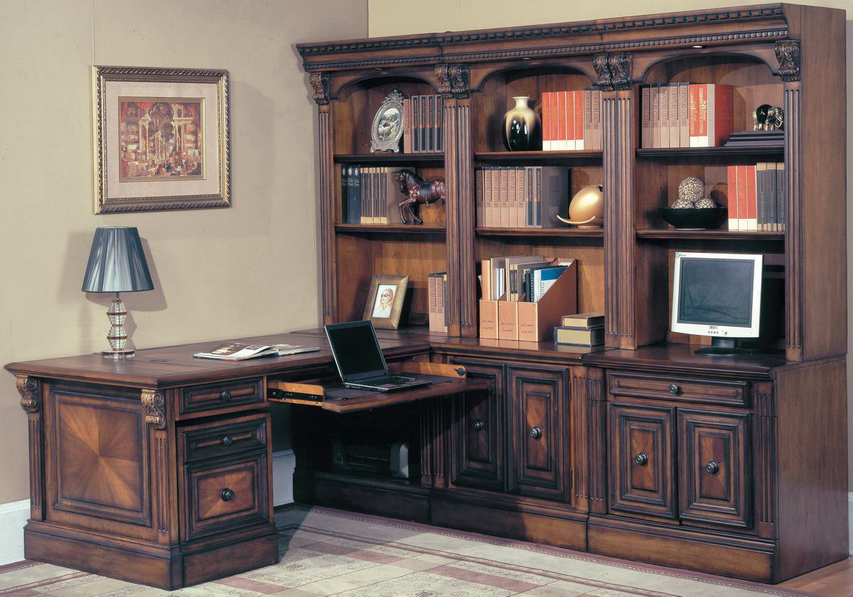 Huntington Home Office Suite 8pc Corner Set - Parker House