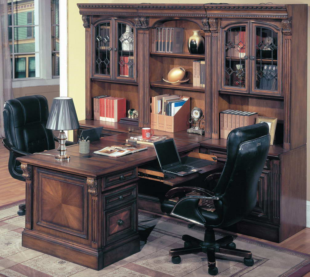 parker house huntington home office suite 8pc peninsula group with