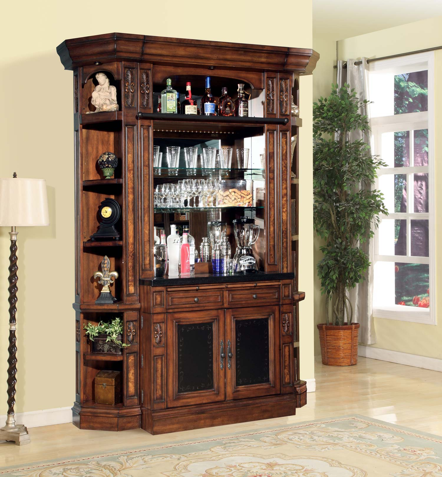 Parker House Leonardo Library Wall Unit Bar Set Ph Leo