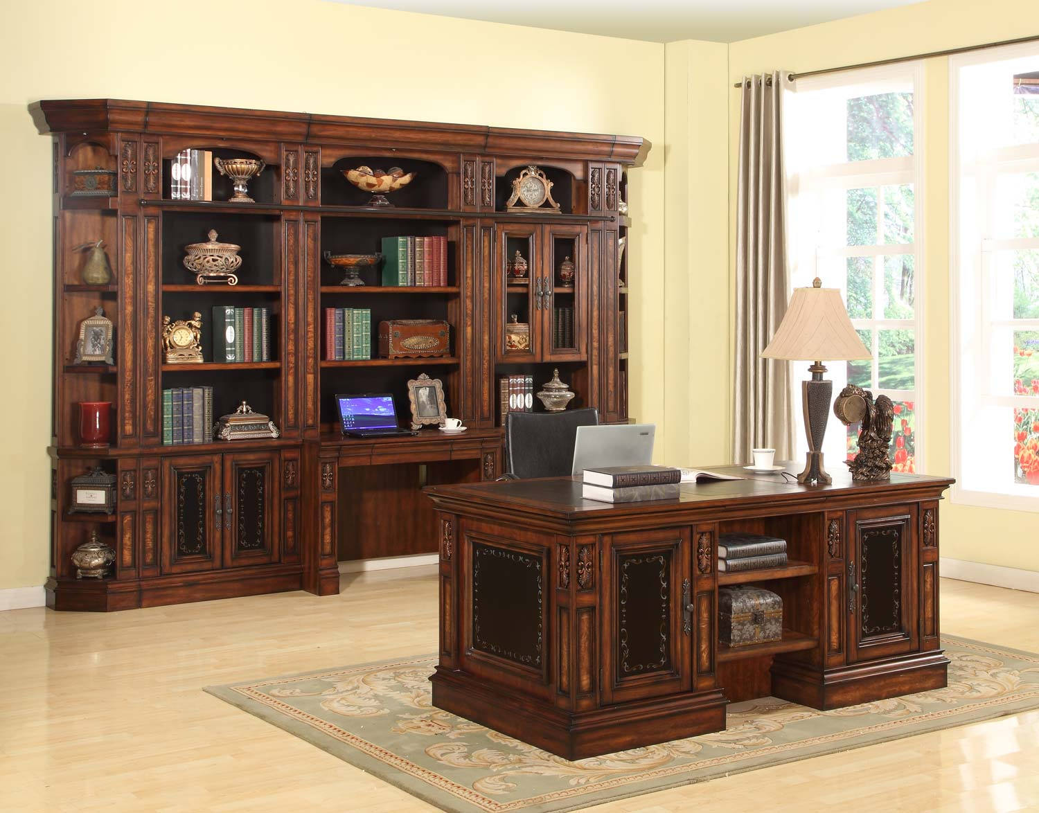 Parker House Leonardo Library Wall Unit Bookcase Set 6