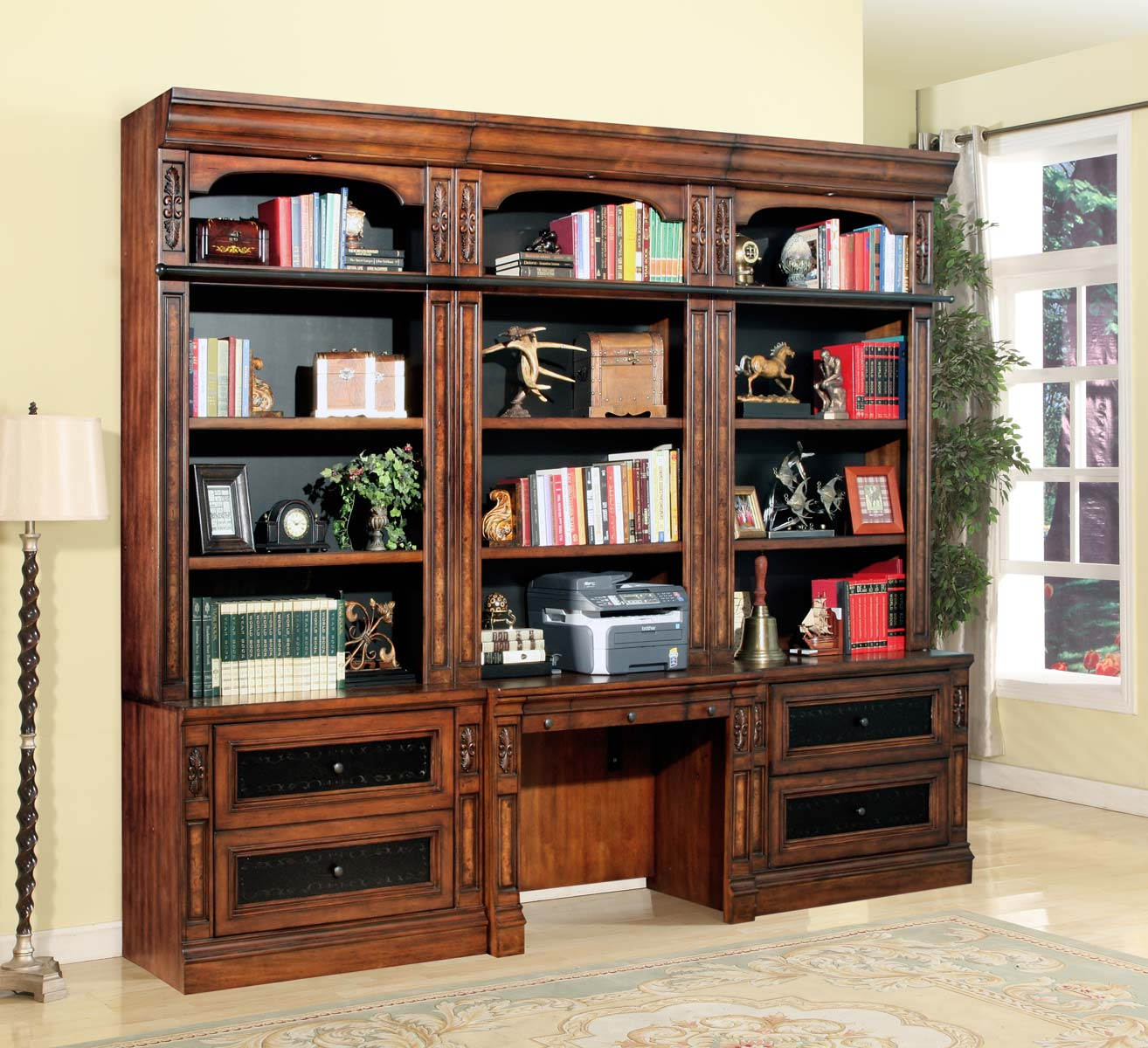 Parker House Leonardo Library Wall Unit Office Set 1