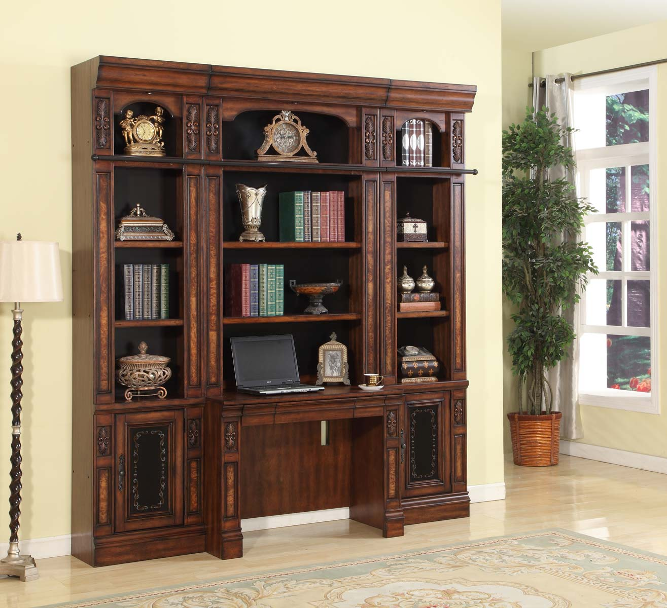 Parker House Leonardo Library Wall Unit Office Set 2