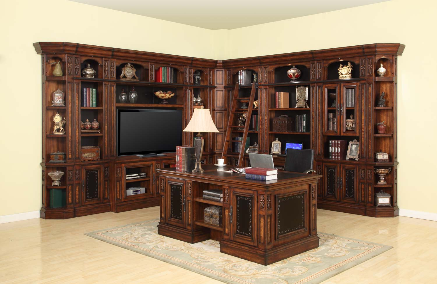 Parker House Leonardo Library Wall Unit Bookcase Set 4