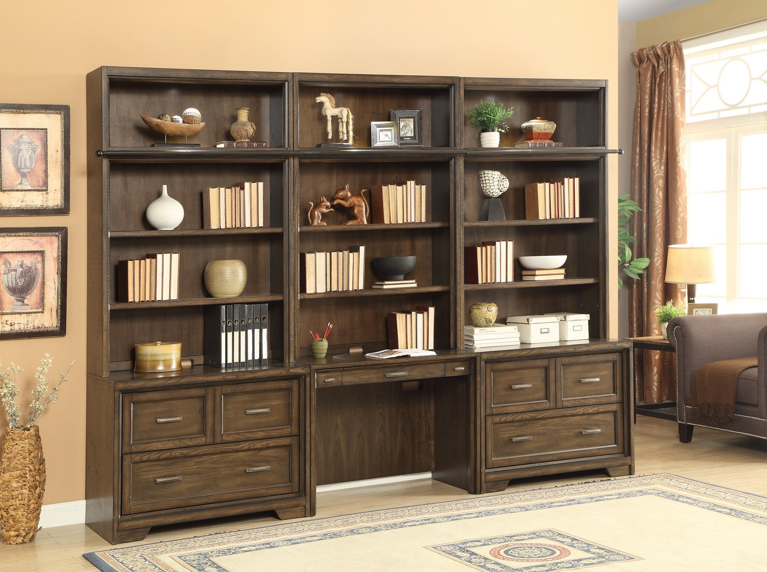 Parker House Meridien Home Office Library Bookcase Wall