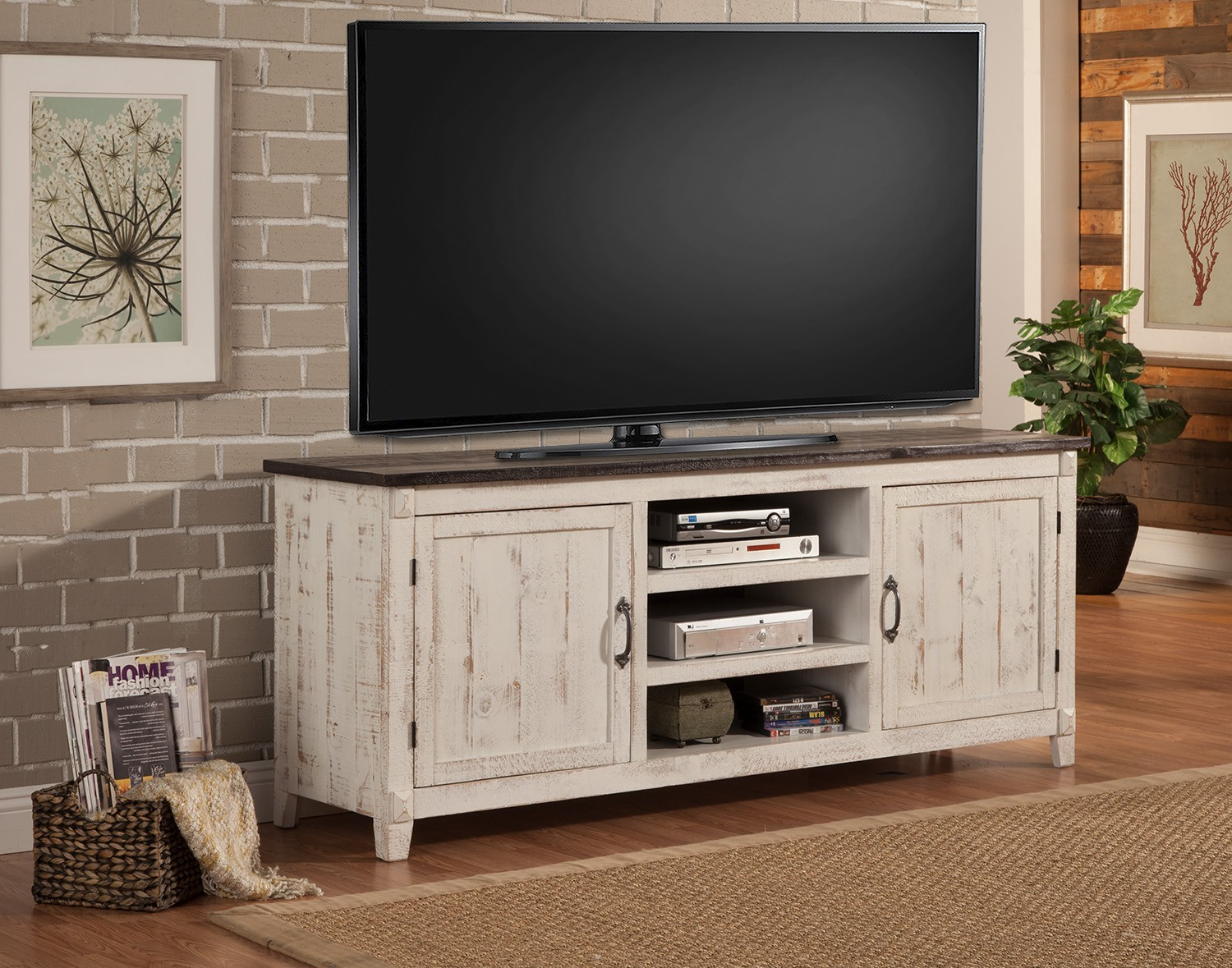 Parker House Mesa 76-inch Console - 2 Tone - Antique White