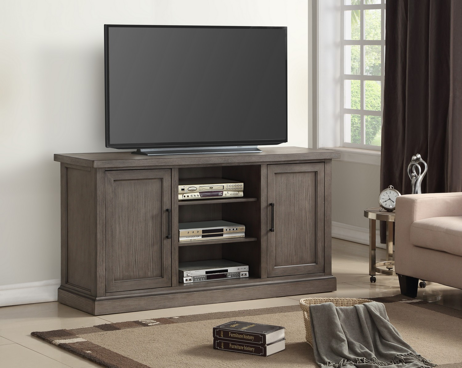 Parker House Scottsdale 63-inch TV Console - Vintage Weathered Pewter