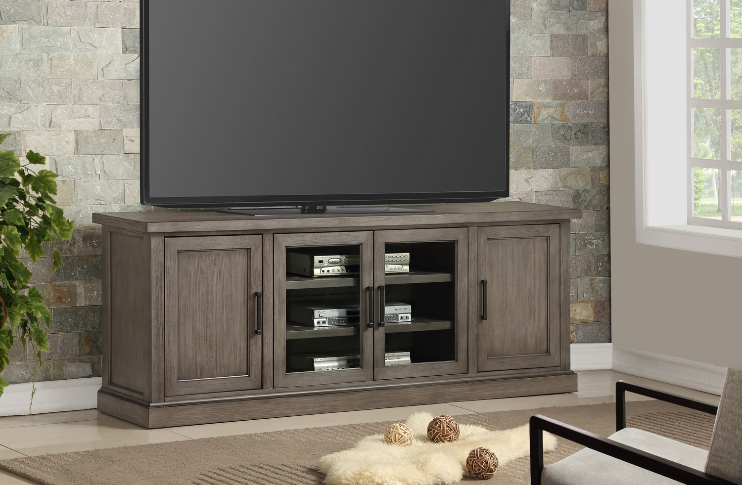 Parker House Scottsdale 76-inch TV Console - Vintage Weathered Pewter