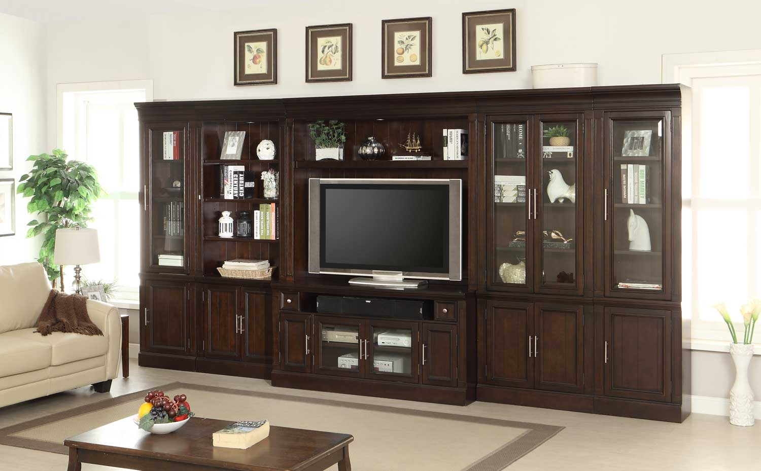 Parker House Stanford Inset Entertainment Wall Unit