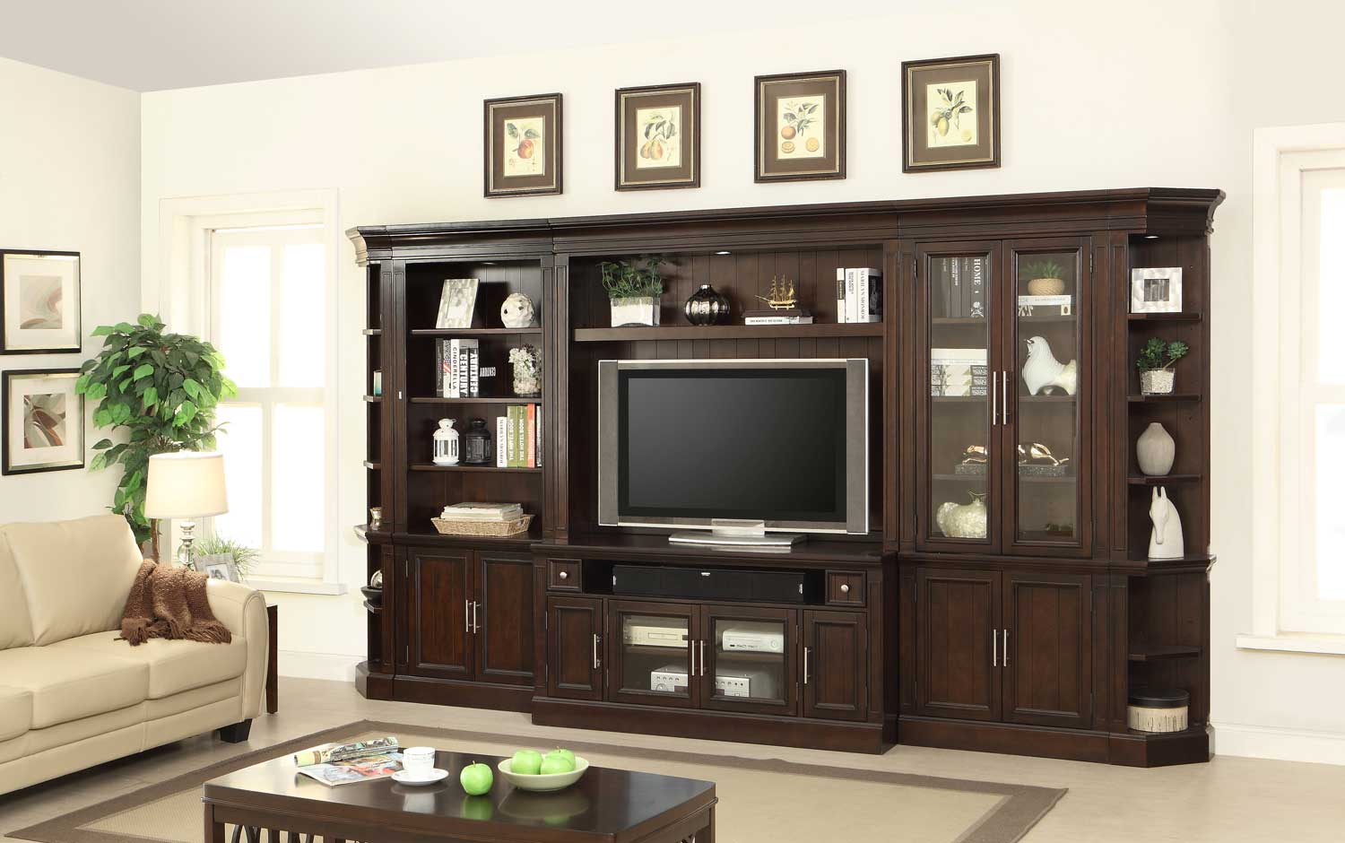 Parker House Stanford Large Entertainment Wall Unit Ph Sta Large Ent Wall At Homelement Com