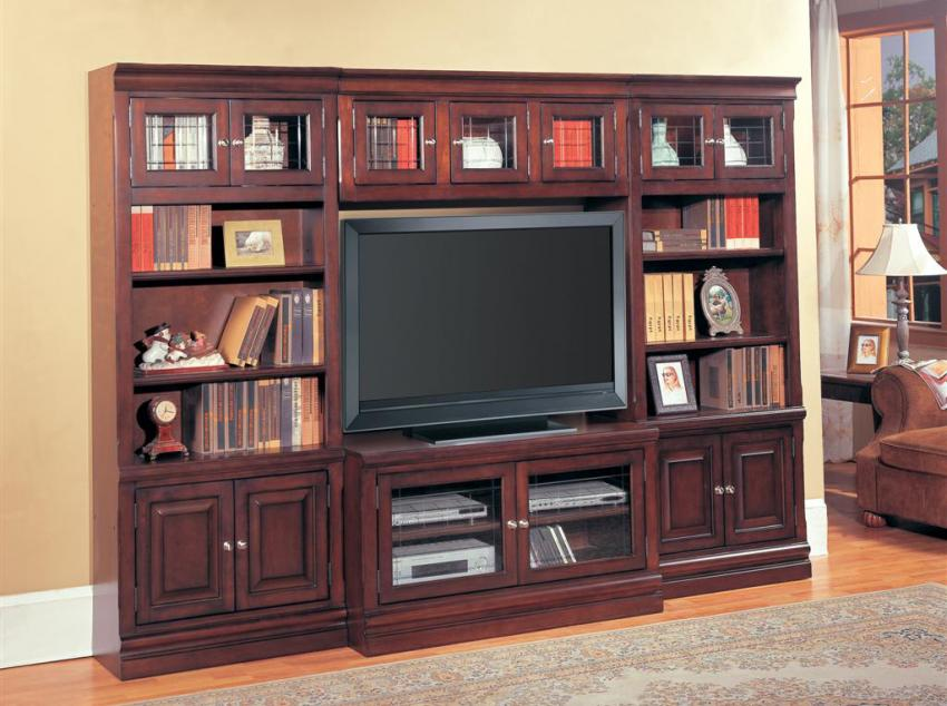 Sterling Library Entertainment Center Set A - Parker House