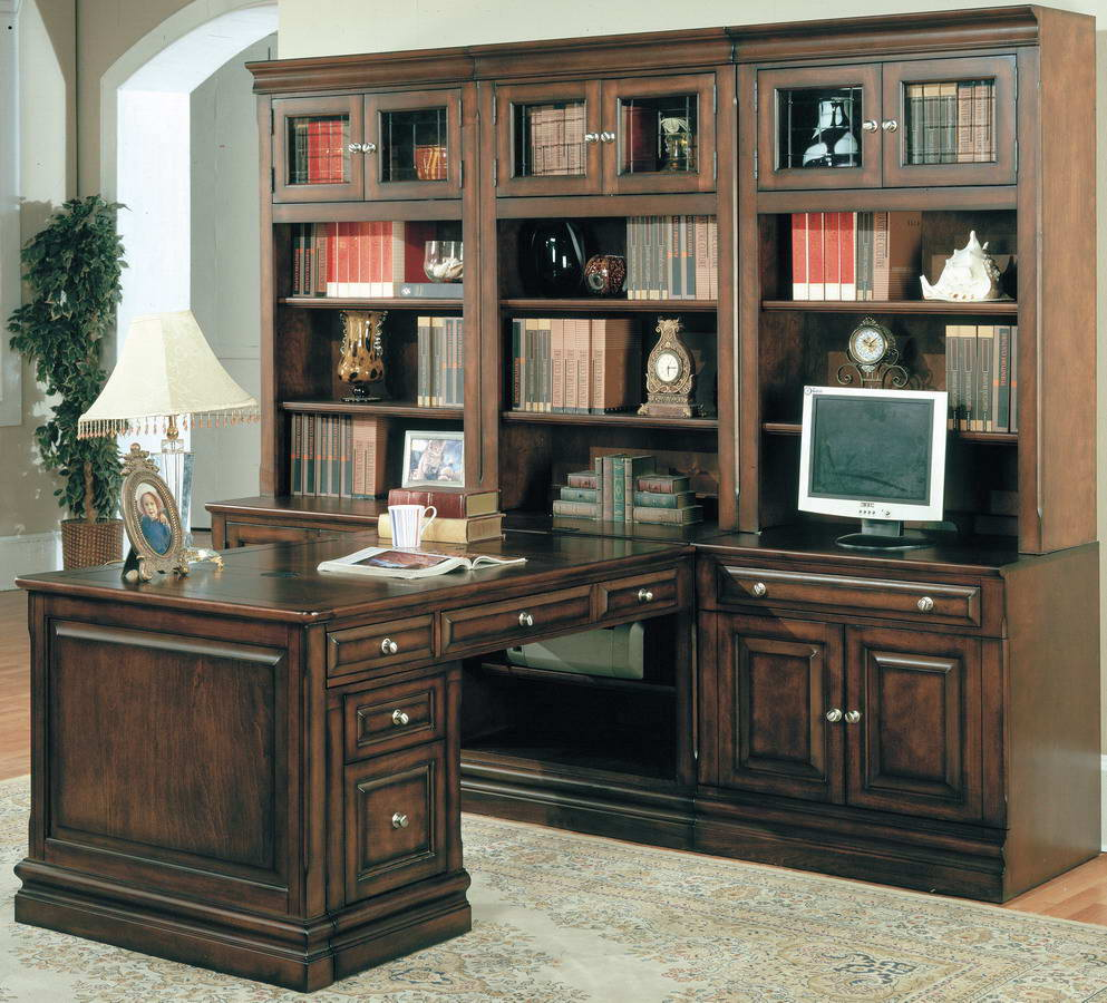 Parker House Sterling Home Office Suite 8pc Peninsula Group with File Cabinet STE-8P