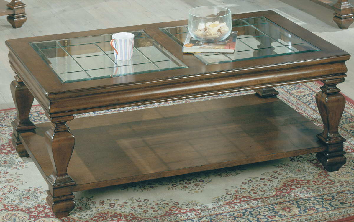 Awesome Parker House Rectangular Glass Top Wood Cocktail Table