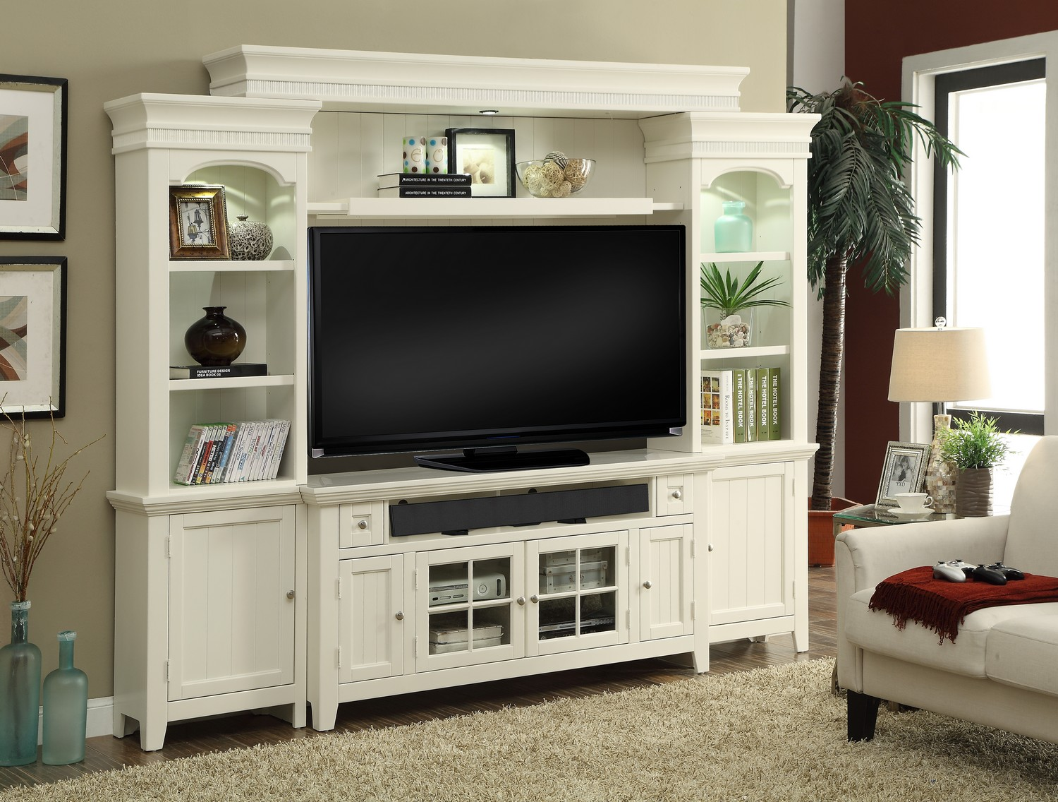 Parker House Tidewater 62in Console Entertainment TV Wall Unit