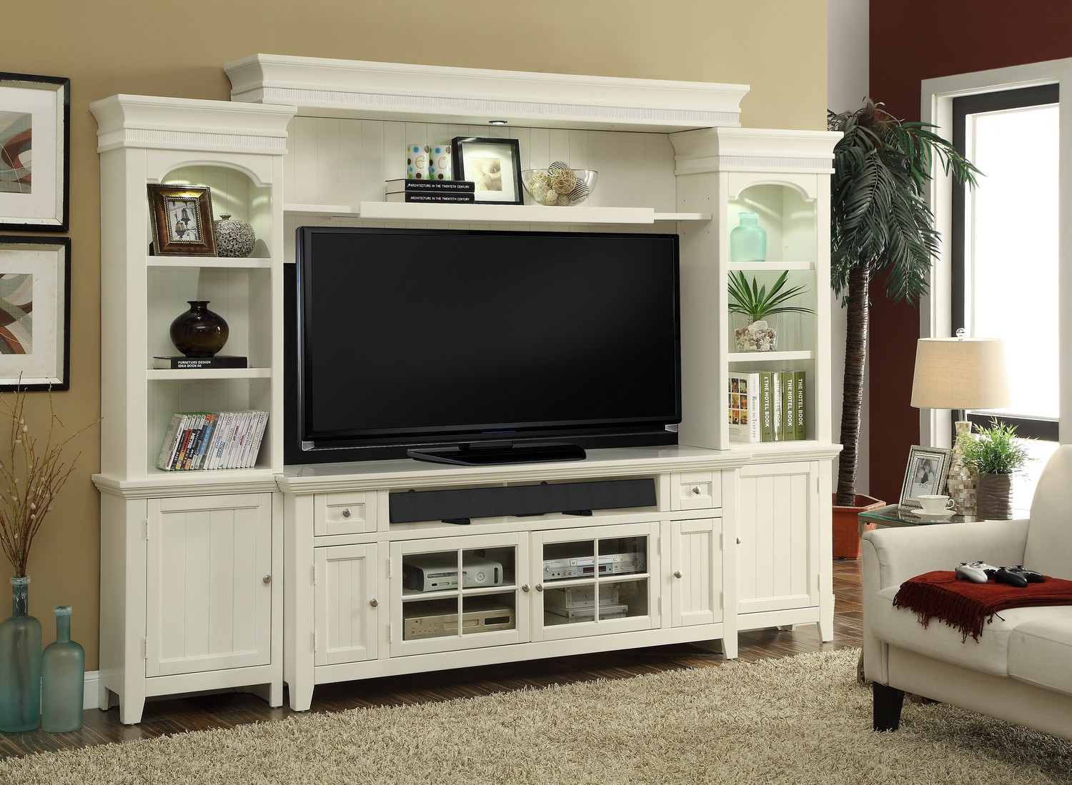 Parker House Tidewater 72in Console Entertainment TV Wall Unit