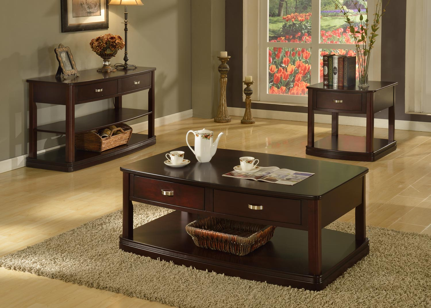 Parker House Premiere Biscayne Coffee Table Set