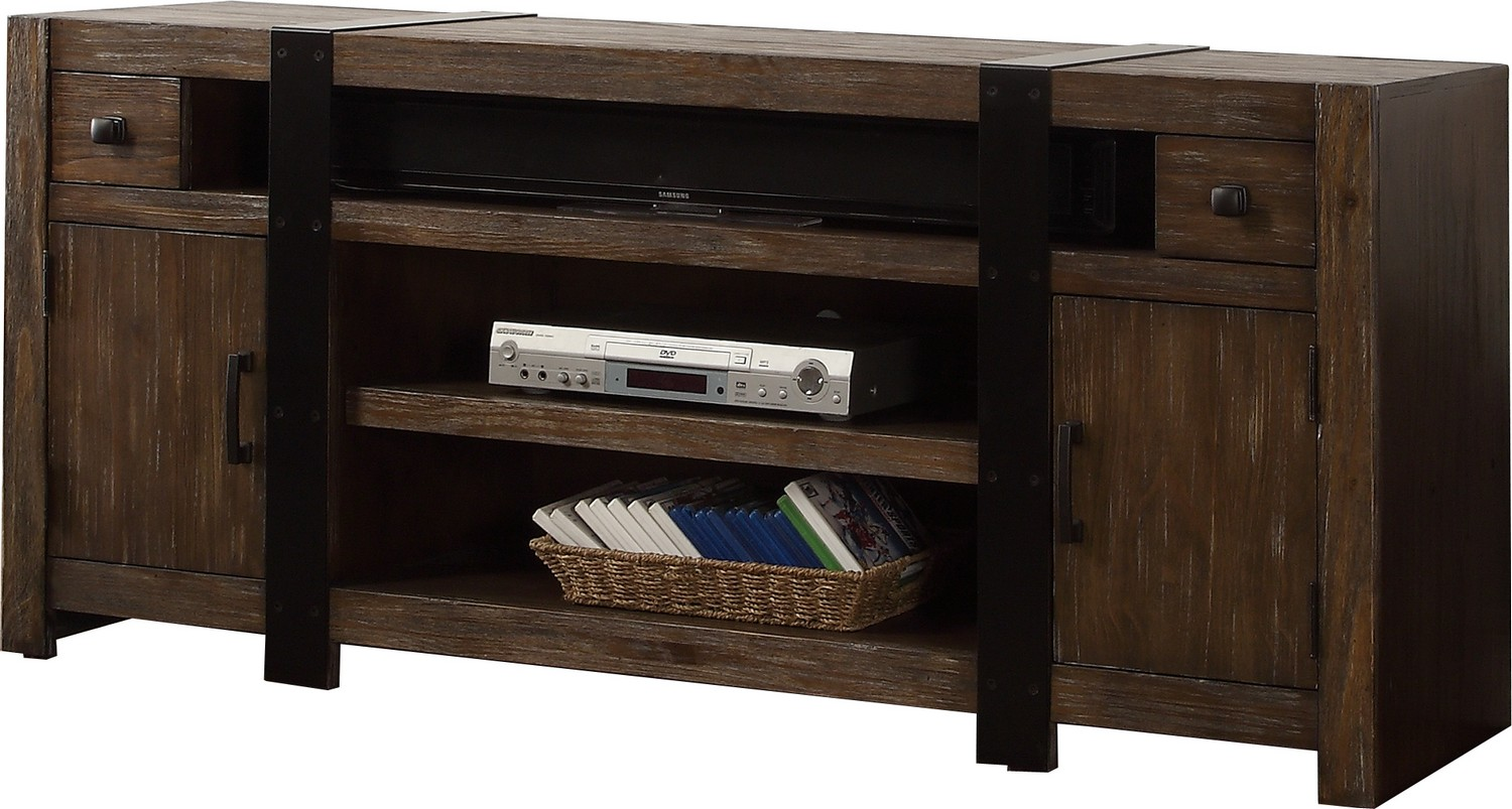 Parker House Tribeca 63-inch TV Console - Weathered Pine