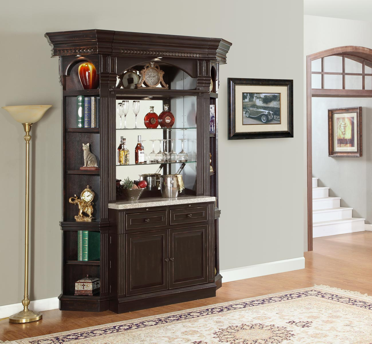 Parker House Venezia Library Wall Unit Bar Set